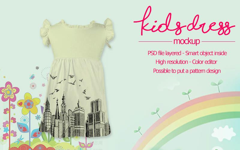 Free Kids Dress Mockup (PSD Mockups)