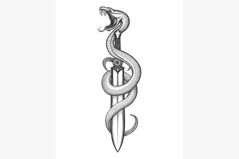 snake-on-a-sword