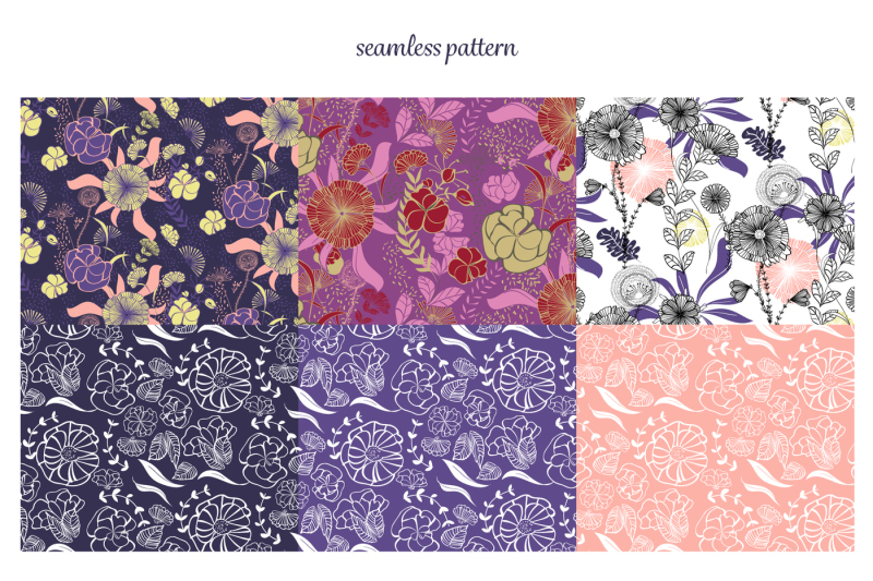 spring-collection-floral-vector-pattern-brushes-flower-and-wreath