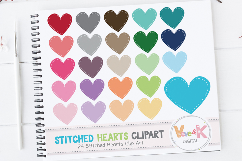 multicolor-stitched-hearts-clipart-set-rainbow-clipart-set