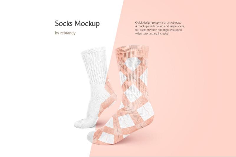 Free Socks Mockup (PSD Mockups)