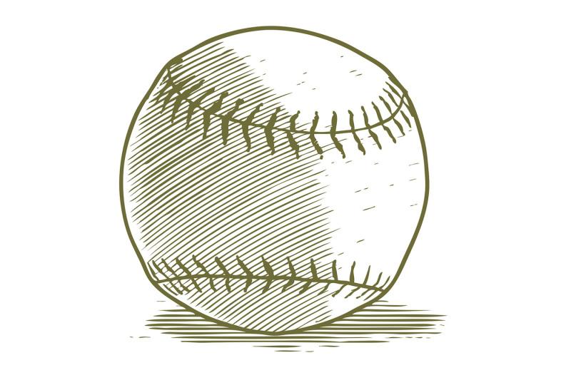 woodcut-baseball