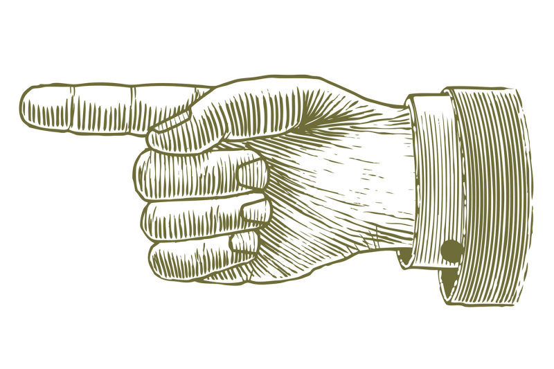 woodcut-hand-pointing