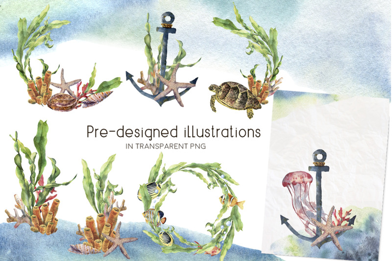 underwater-watercolor-clip-art