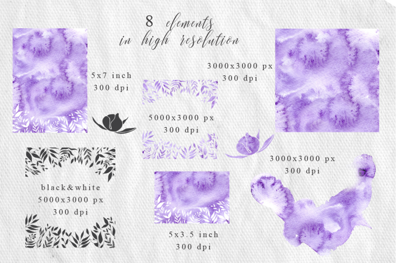 gentle-purple-watercolor-spring-wedding-invitation-suite