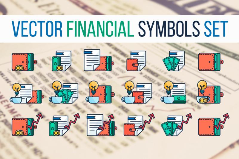 financial-symbols-set