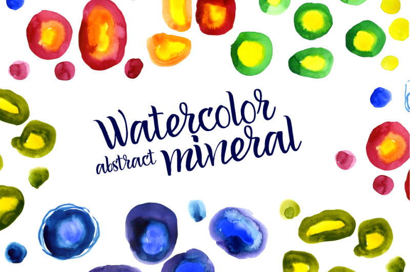 multi-colored-minerals-stones-watercolor-abstract-stains