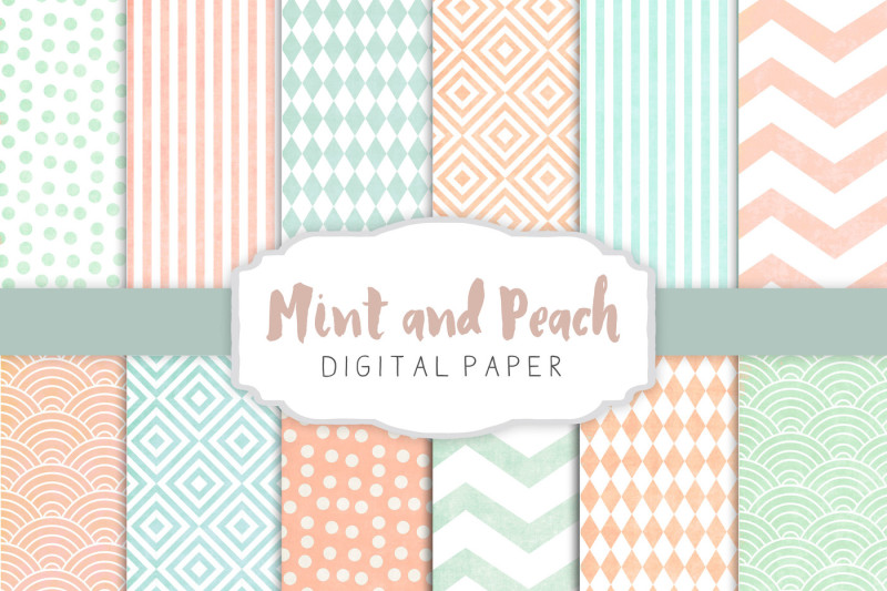 peach-and-mint-patterns