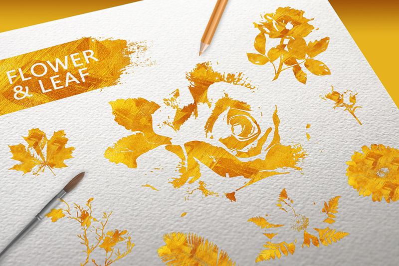 flower-amp-leaf-gold-texture-elements