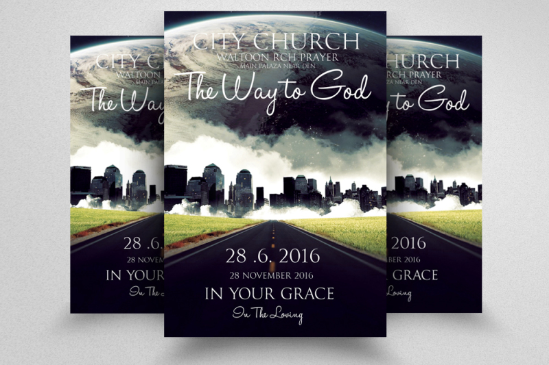 jesus-city-church-flyer-template