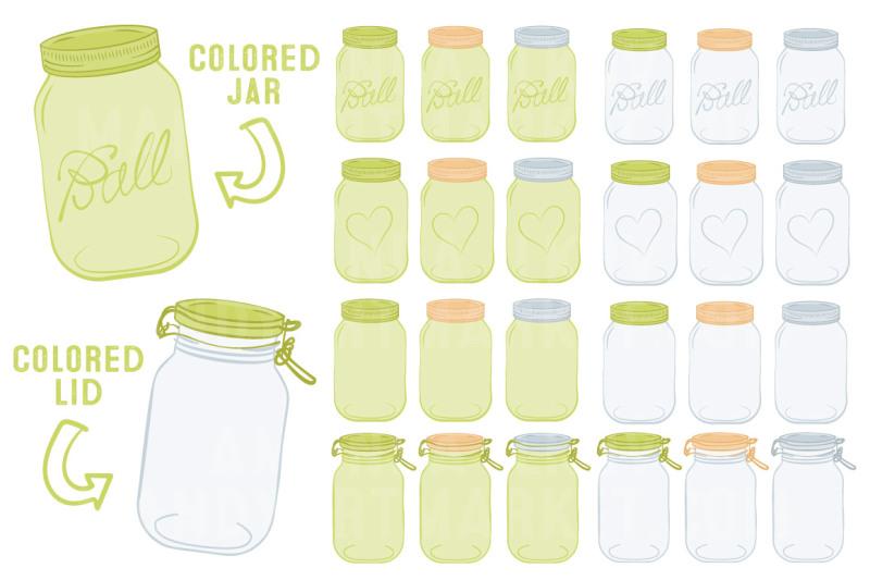 vector-mason-jars-clipart-in-bamboo
