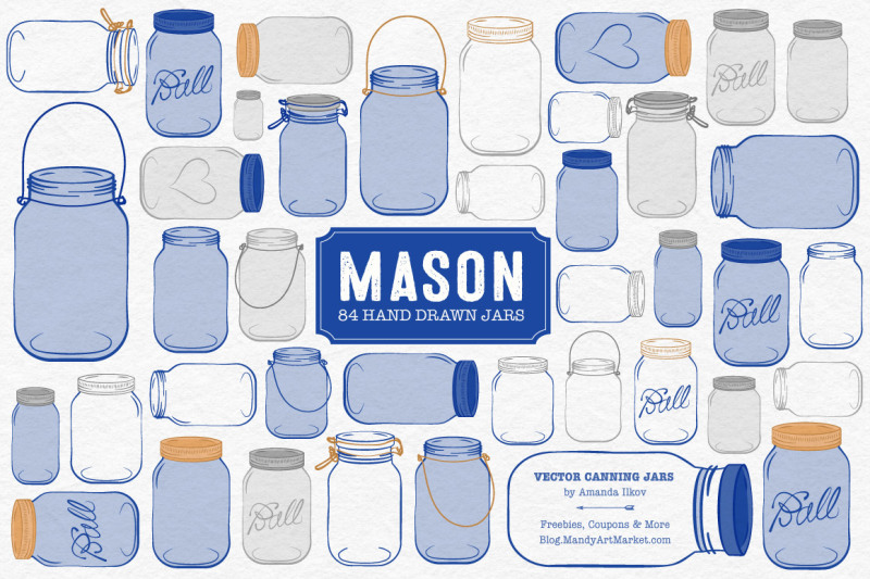 vector-mason-jars-clipart-in-royal-blue