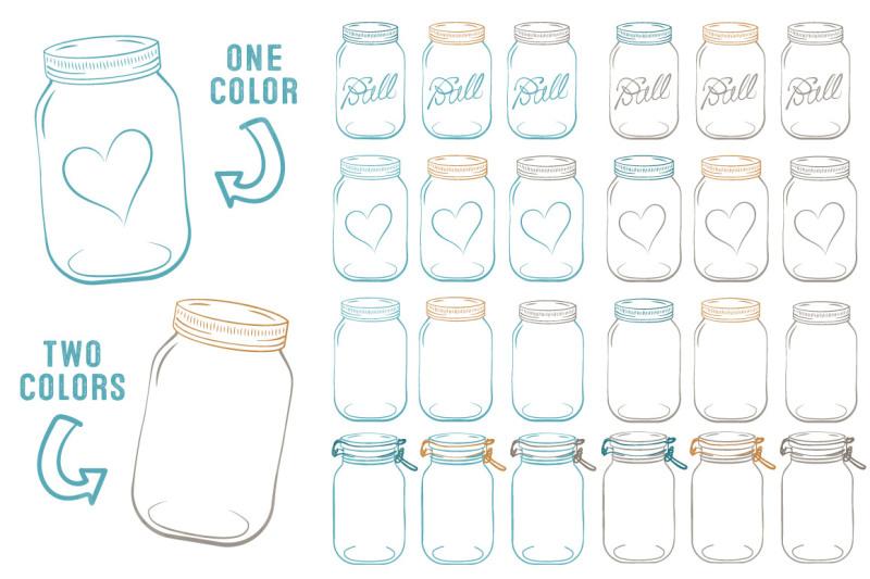 vector-mason-jars-clipart-in-vintage-blue