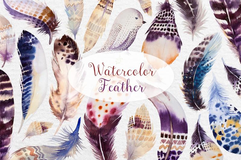 watercolor-feathers-bundle