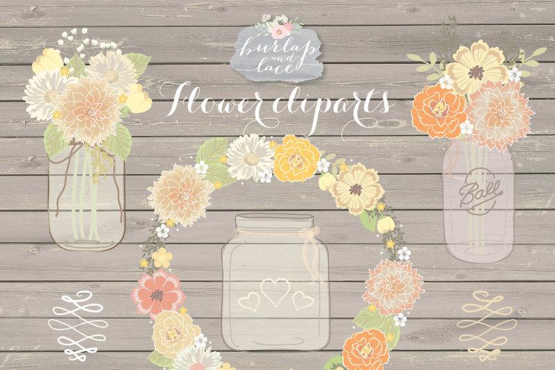 rustic-floral-cliparts-mason-jar-flower-wreath