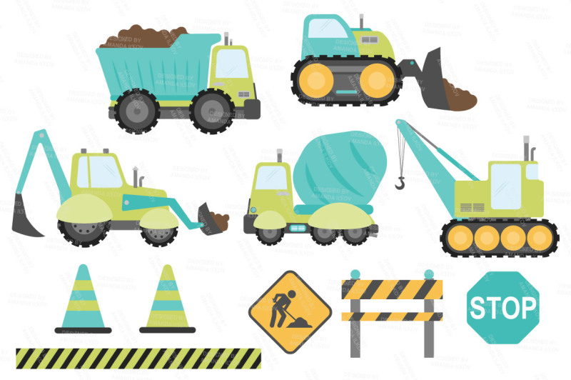 construction-trucks-clipart-in-land-and-sea