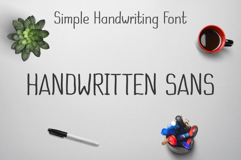 handwritten-sans