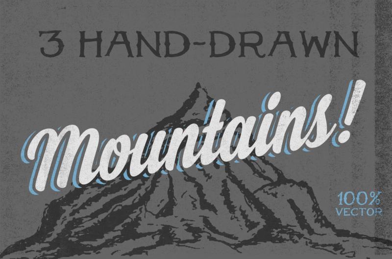 3-hand-drawn-mountains