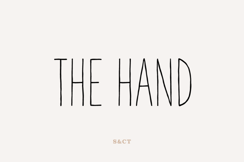 the-hand-font-pack