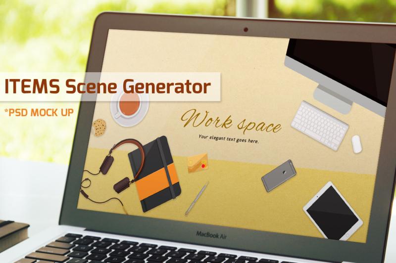 work-space-items-scene-generator-vol-2