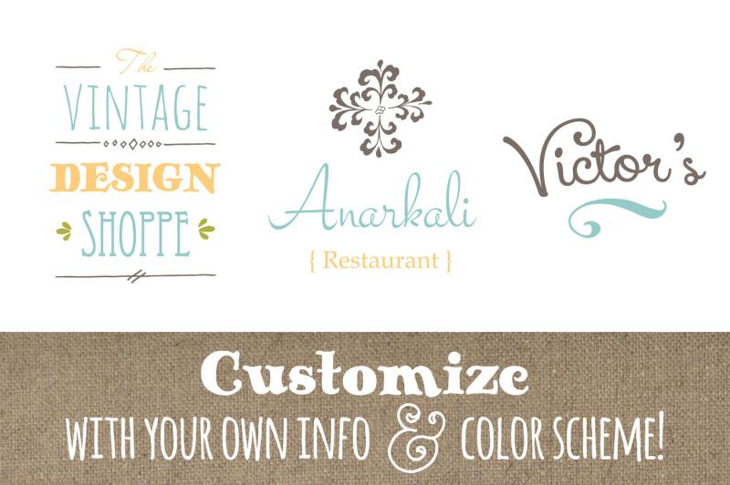 cute-premade-logo-templates-set-1