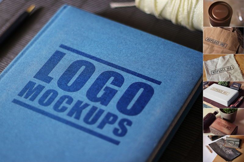 Free Perspective Logo Mockups Vol. 2 (PSD Mockups)