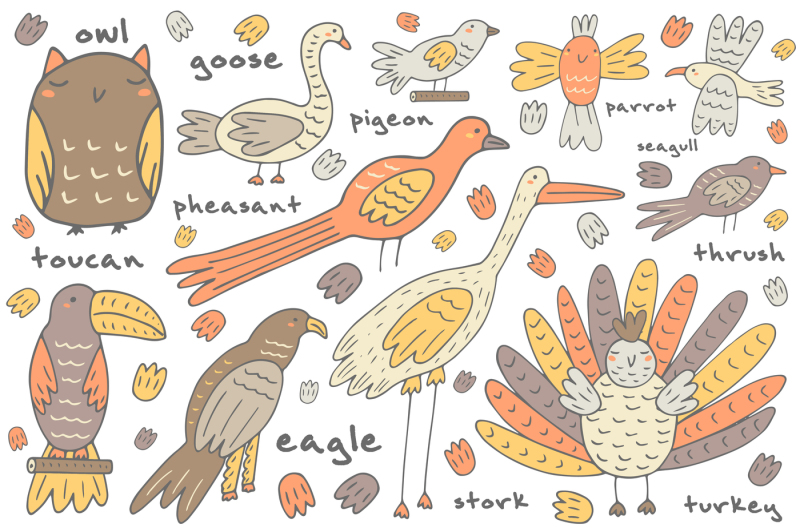 doodle-animals-set