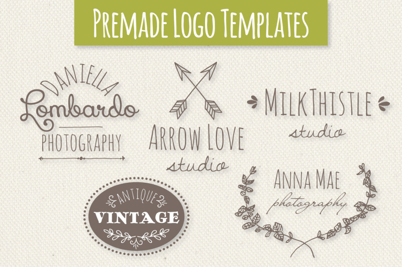cute-premade-logo-templates-set-3