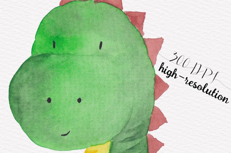dinosaur-watercolor-collection
