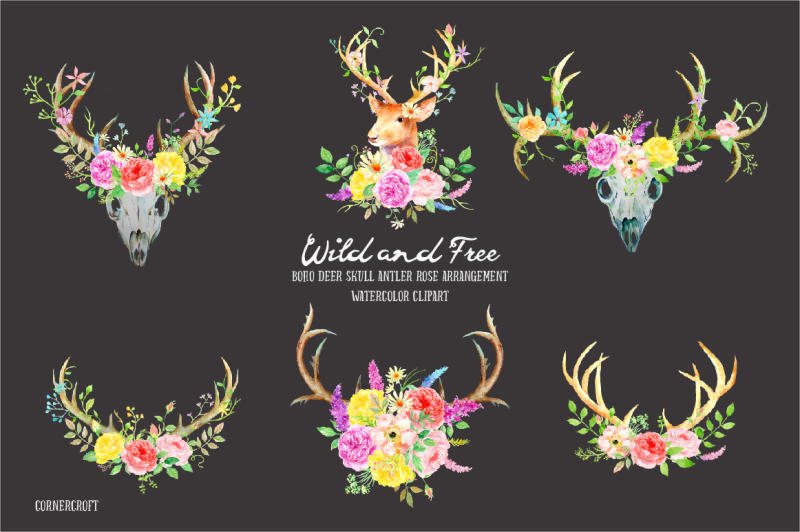 watercolor-clipart-wild-and-free