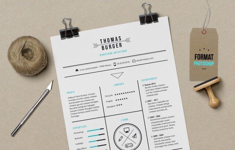 cv-burger-resume-template-photoshop