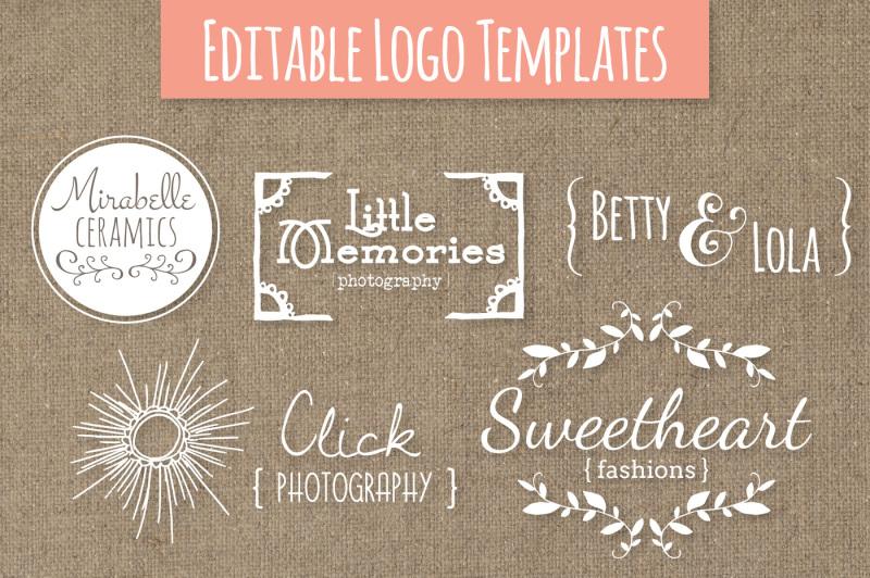 cute-premade-logo-templates-set-6