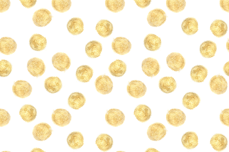 golden-hand-drawn-dots-pattern