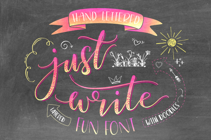 just-write-hand-lettered-font