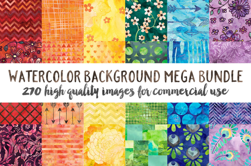watercolor-pattern-background-bundle