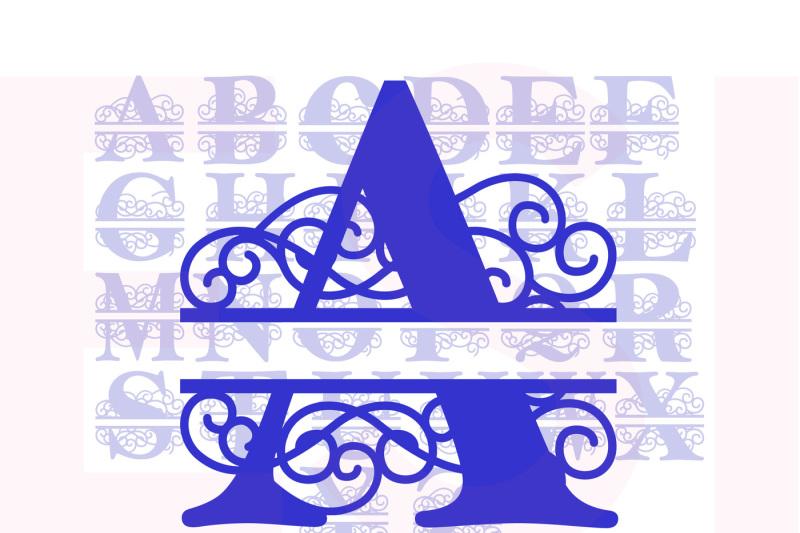 es-swirl-split-alphabet-a-z-svg-dxf-eps-cutting-files