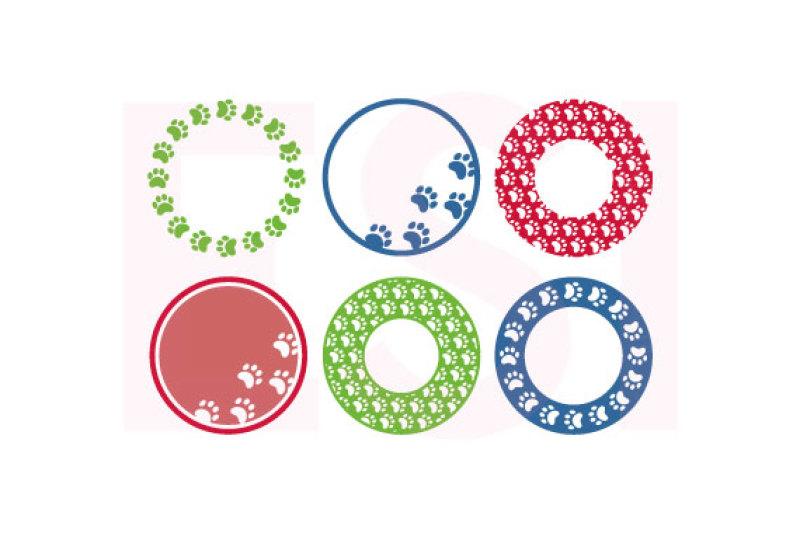 pet-dog-paw-print-circle-monogram-designs-svg-dxf-eps