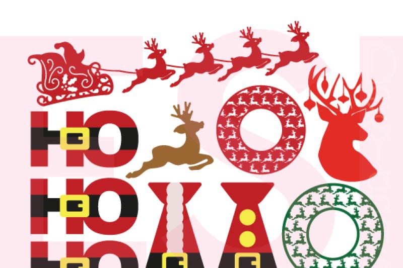 santa-and-reindeer-designs-set-svg-dxf-eps-cutting-files