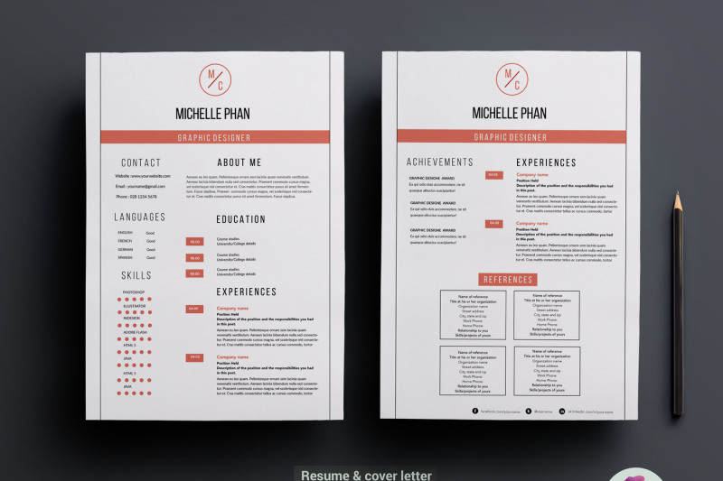2-page-resume-template-clean-design