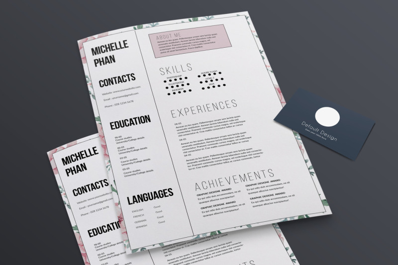 floral-1-page-cv-template