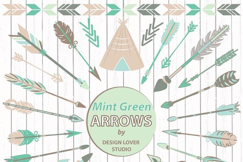 vector-mint-tribal-clipart-arrows-arrows-clipart-chalkboard-clipart-navaho-clipart-arrows-native-american-style-arrow-clipart