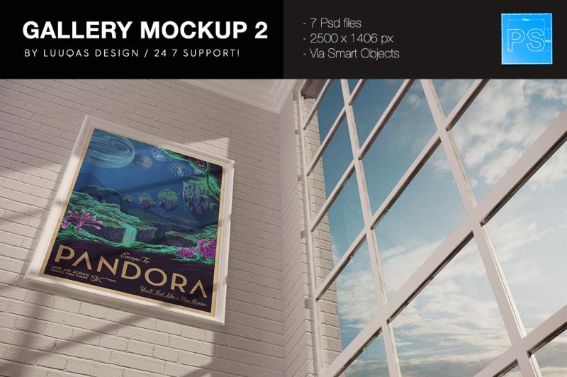 Free Gallery Mockup 2 (PSD Mockups)