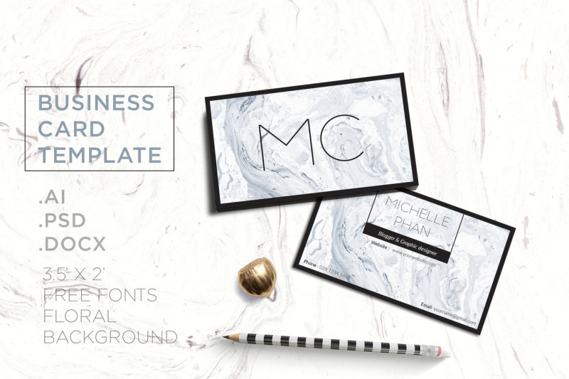 marble-business-card-template
