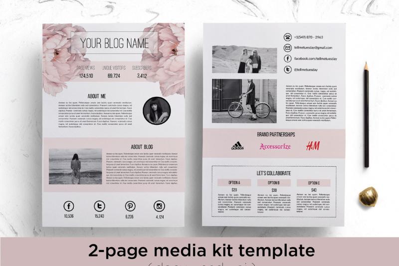 floral-media-kit-template