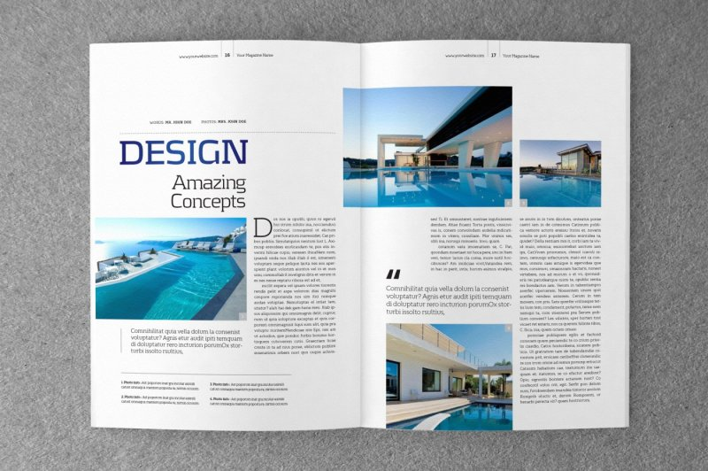 Indesign Magazine Template V 02 By Shafura Thehungryjpeg Com