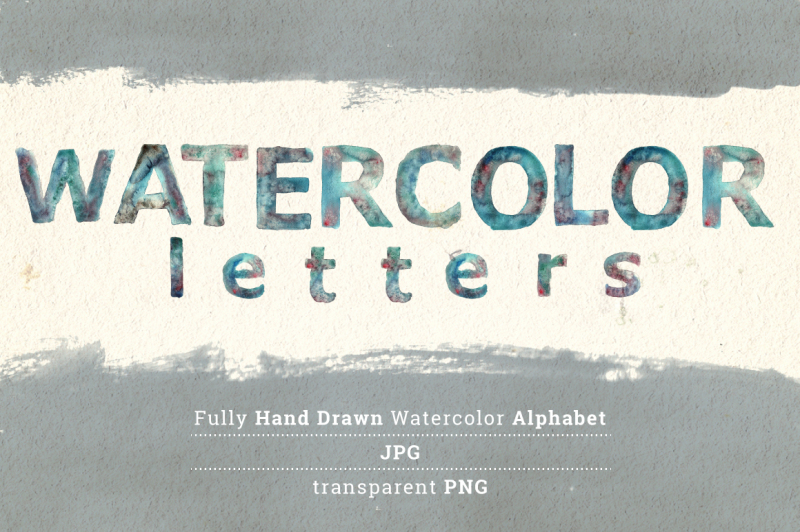 watercolor-letters