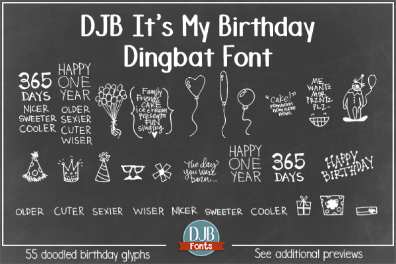 djb-it-s-my-birthday-font