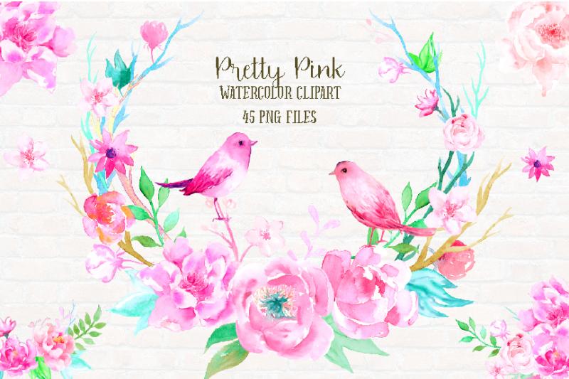 watercolor-clipart-pretty-pink