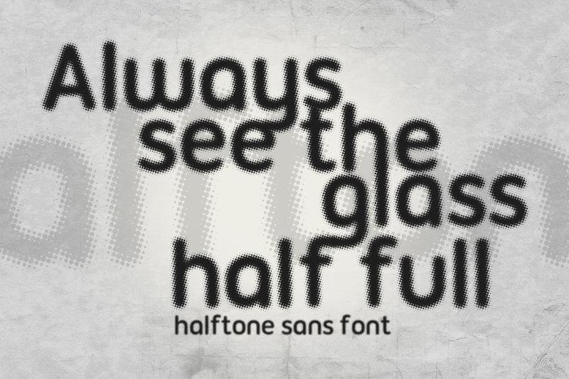 halftone-sans