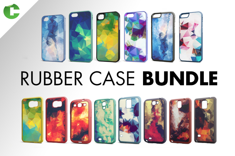 Free Rubber Case Bundle (PSD Mockups)